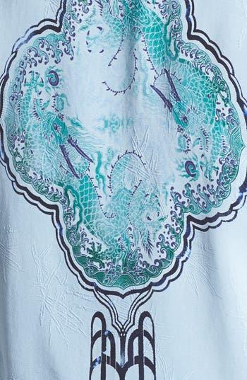 Alternate Image 3  - Citron Deco Print Silk Jacket (Plus Size)