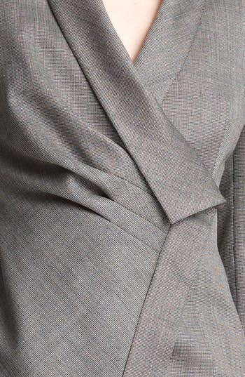 Alternate Image 4  - Armani Collezioni Asymmetrical Micro Herringbone Jacket