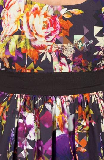Alternate Image 3  - City Chic Print Fit & Flare Dress (Plus Size)
