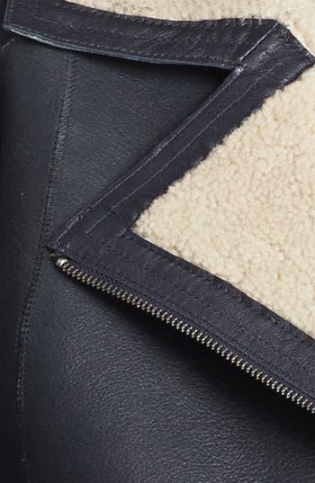 Alternate Image 6  - Miss Wu Genuine Shearling Moto Jacket (Nordstrom Exclusive)