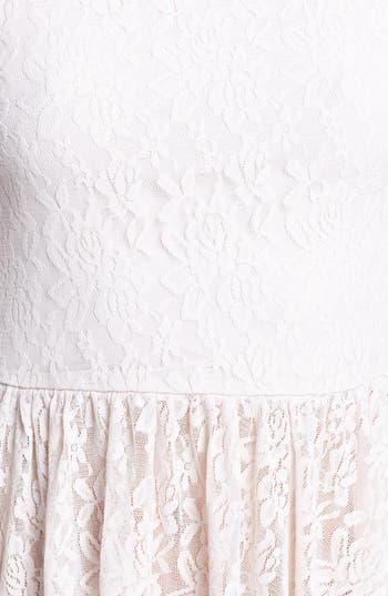 Alternate Image 3  - Frenchi® Lace Peplum Top (Juniors)