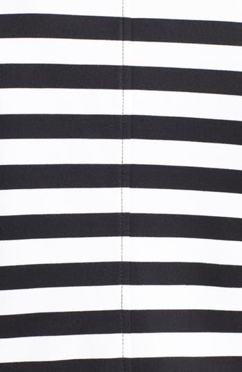 Alternate Image 3  - Anne Klein Stripe Ponte Knit Peacoat (Plus Size)