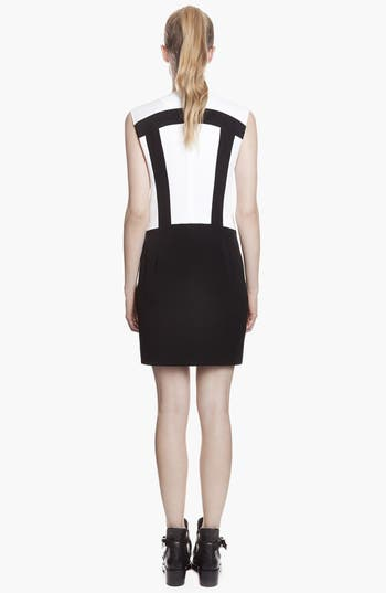 Alternate Image 2  - sandro 'Ray' Zip Stretch Shift Dress