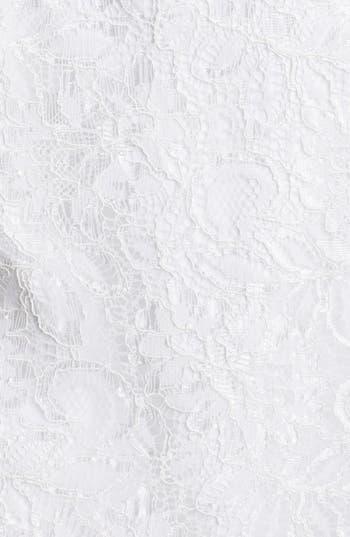Alternate Image 3  - Aidan Mattox Strapless Lace Peplum Dress
