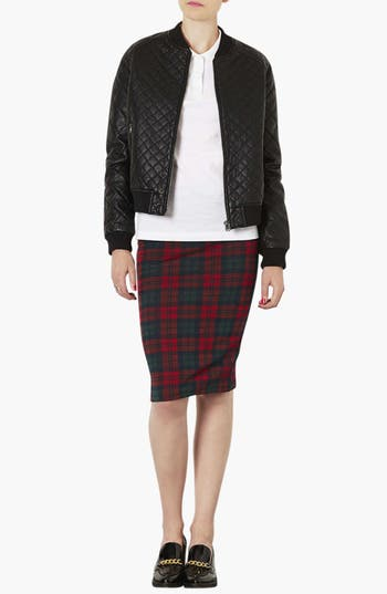Alternate Image 3  - Topshop Quilted Bomber Jacket