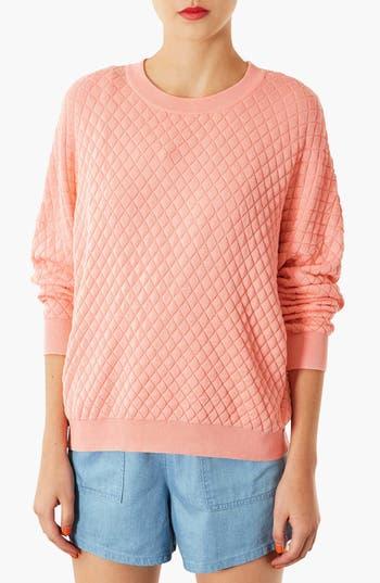 Alternate Image 1 Selected - Topshop Quilted Sweatshirt