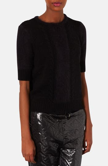 Main Image - Topshop 'Carla' Elbow Sleeve Knit Sweater