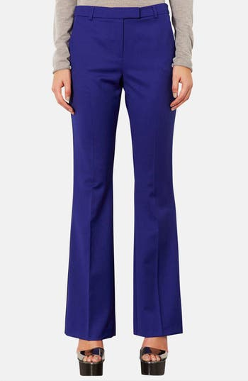 Alternate Image 1 Selected - Topshop Piped Flare Leg Trousers