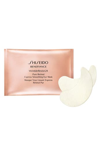 Alternate Image 1 Selected - Shiseido Benefiance WrinkleResist24 Pure Retinol Express Smoothing Eye Mask