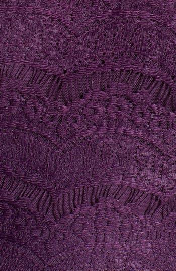 Alternate Image 4  - En Crème Eyelash Lace Skater Dress (Juniors) (Online Only)