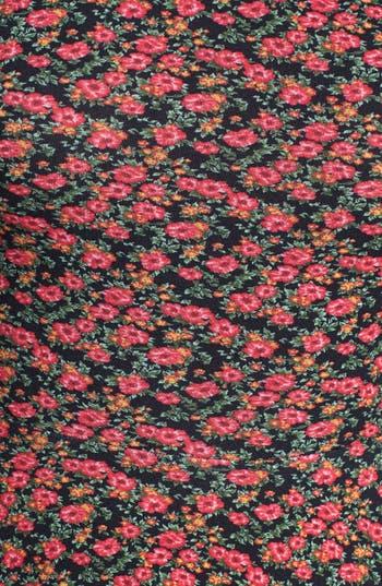Alternate Image 4  - Lush Floral Print Knit Skater Dress (Juniors)