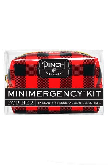 'Checkmate' Minimergency Kit,                         Main,                         color, Red Plaid