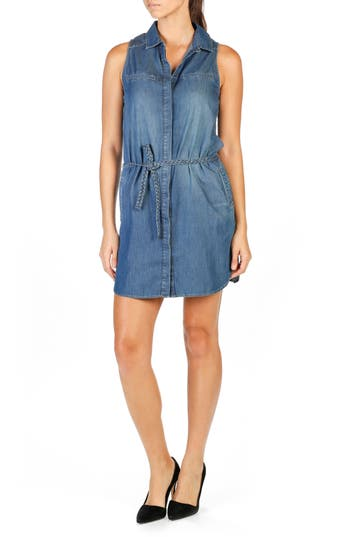 PAIGE Eugenie Denim Shirtdress (Crispin)