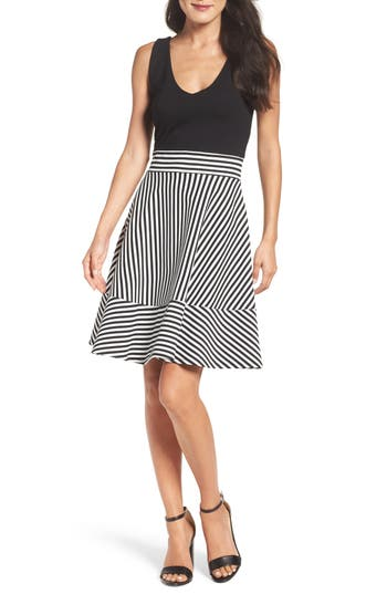 Felicity & Coco Stripe Fit & Flare Dress (Nordstrom Exclusive)