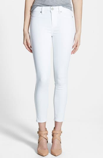 Paige Denim Hoxton High Waist Skinny Jeans (Ultra White)