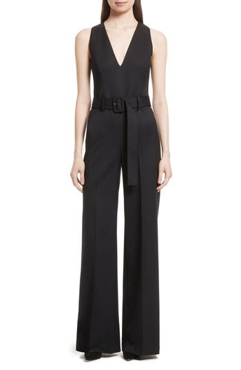 Tuxedo Wool Belted Jumpsuit by Theory