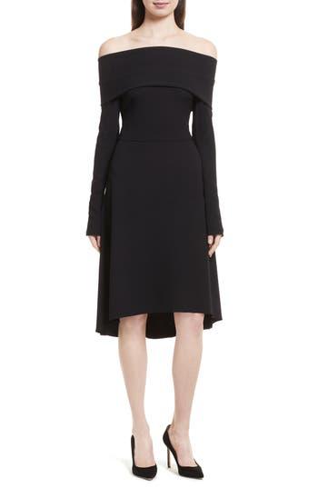 Theory Kensington Off the Shoulder Foldover Dress