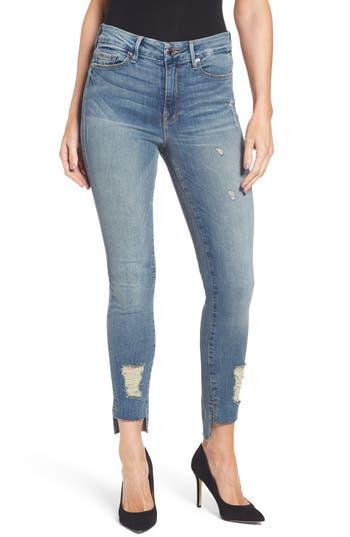 Good American Good Legs High Waist Skinny Jeans (Blue 082) (Extended Sizes)
