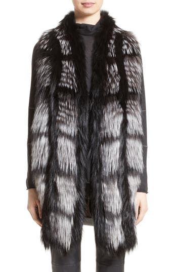 Fabiana Filippi Genuine Fox Fur Front Cashmere Vest