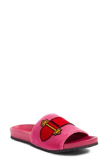Prada Logo Slide Sandal (W..