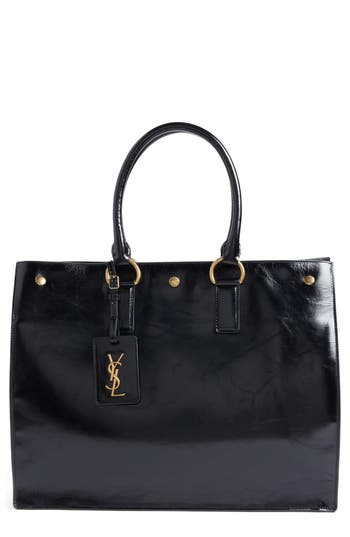Saint Laurent Noe Glac? Moroder Leather Tote