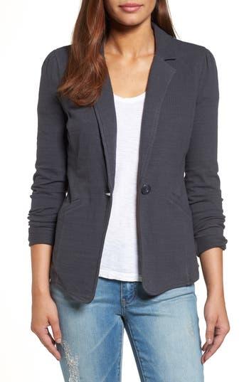 Caslon® Knit One-Button Blazer (Petite)
