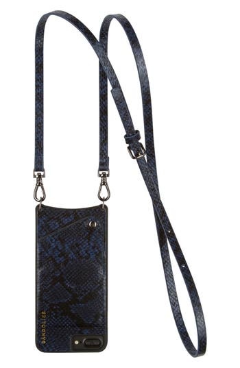 Bandolier Cynthia Snake Embossed Faux Leather iPhone 6/7/8 & 6/7/8 Plus Crossbody Case