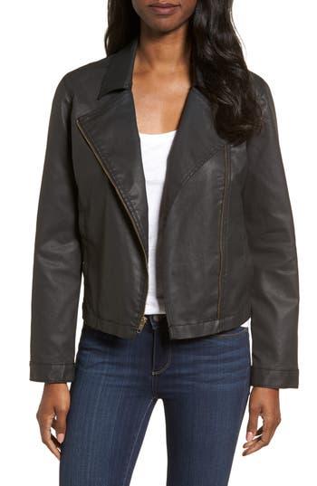 Eileen Fisher Waxed Moto Jacket