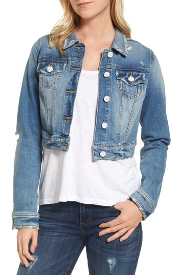 SLINK Jeans Crop Denim Jacket (Keziah)