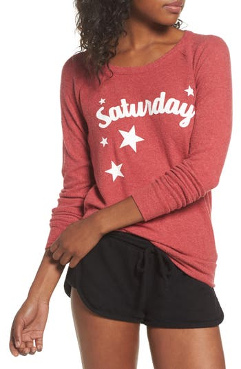 Chaser Love Saturday Drape Back Pullover
