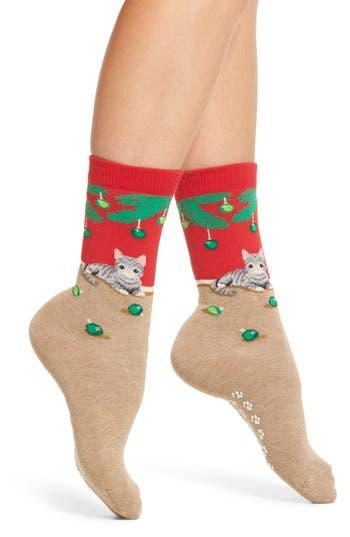 Hot Sox Christmas Cat Nonskid Socks (3 for $15)