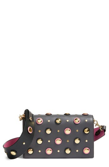 Diane von Furstenberg Soir?e Embellished Leather Convertible Clutch