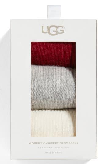 UGG® Assorted 3-Pack Crew Socks