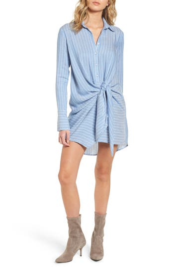 Socialite Tie Front Shirtdress