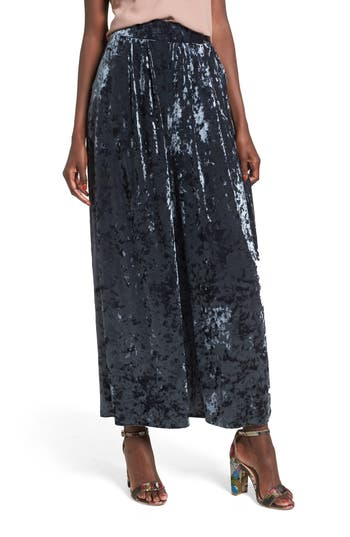 Leith Crop Wide Leg Velour Pants