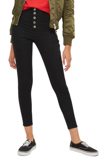 Topshop Joni Button Fly Super Skinny Jeans