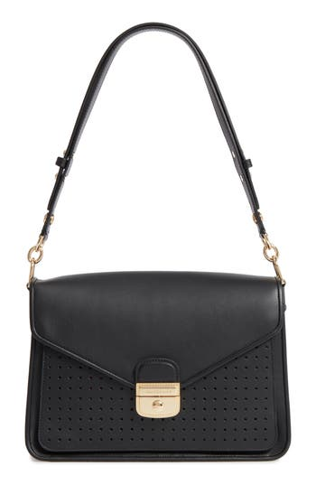 Longchamp Mademoiselle Calfskin Leather Shoulder Bag
