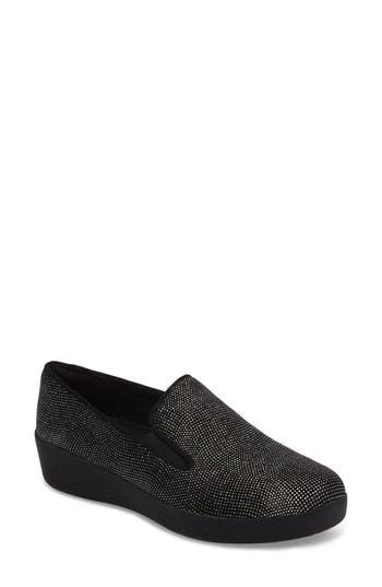 FitFlop Superskate Glitter Dot Slip-On Sneaker (Women)