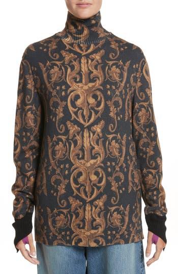 Undercover Ivy Print Wool Turtleneck Sweater