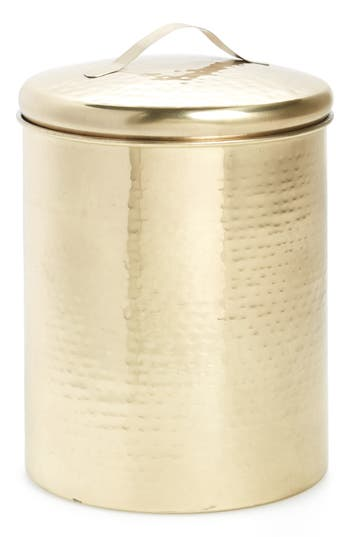 Medium Hammered Goldtone Canister by Nordstrom At Home