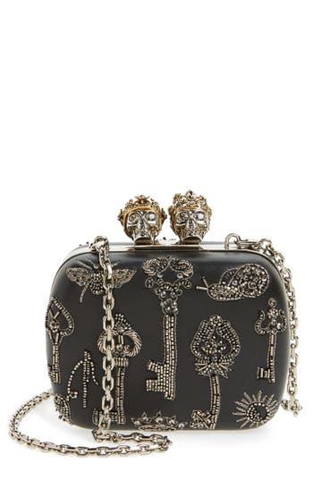 Alexander McQueen Embellished Kiss Lock Mini Clutch