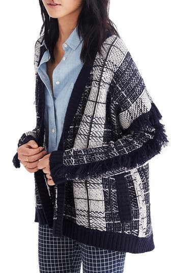 Madewell Plaid Fringe Card..
