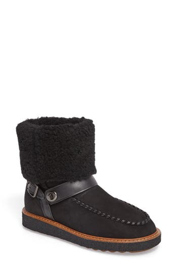 COACH Genuine Shearling Moto Boot (Women)