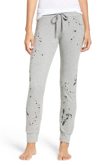 Michael Lauren Bear Paint Splatter Classic Jogger Pants