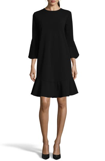 ECI Ruffle Bell Sleeve Shift Dress