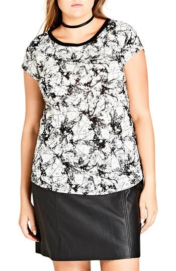 City Chic Marble Tee (Plus..