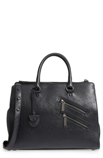 Rebecca Minkoff Large Jamie Metallic Leather Satchel