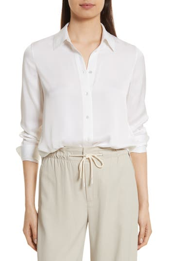 Vince slim silk blouse nordstrom for Nordstrom custom dress shirts