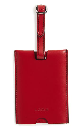 Lodis Audrey Rene Leather Luggage Tag