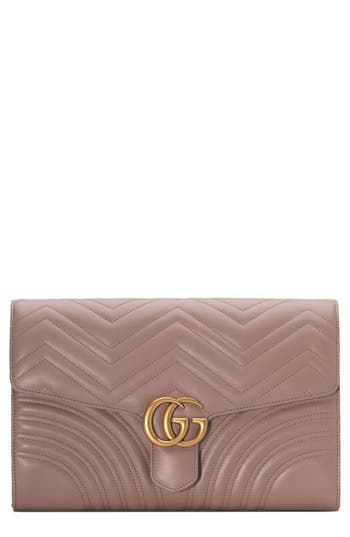 Gucci GG Marmont 2.0 Matelass? Leather Clutch